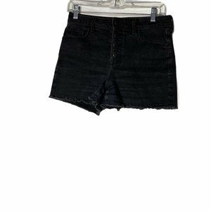 Old Navy High Rise Black Button Fly Jean Shorts 6